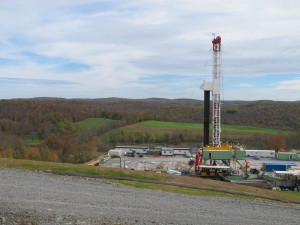 A drill rig in Kingsley, Susquehanna County.