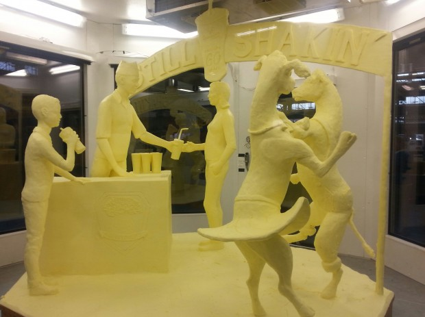 This year's butter sculpture was crafted by Jim Victor of Conshohocken and is an homage to milkshakes.
