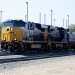 A CSX unit train delivers a load of crude oil from the Bakken Shale in North Dakota to a refinery in South Philadelphia.