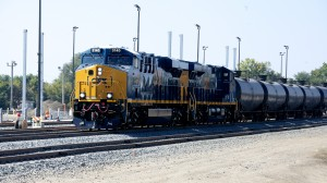 A CSX unit train delivers a load of crude oil from the Bakken Shale in North Dakota to a refinery in South Philadelphia. There has been a recent surge in oil shipments by rail across the country.