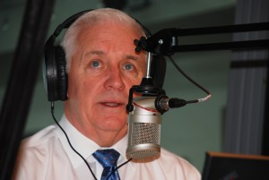 Governor Corbett discussing his budget proposal on witf's Smart Talk Friday.