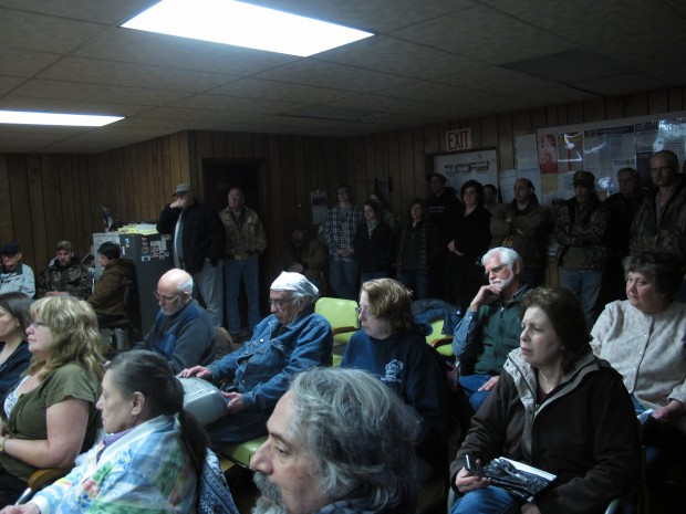 FILE: Residents packed a 2014 Highland Township supervisors' meeting on injection wells.