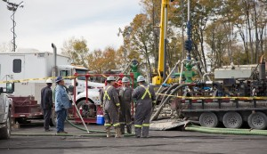 Workers at a frack site in Harford Township, Pa. Under new EPA rules, gas drillers will have to step up their measurements and reporting of methane leaks.