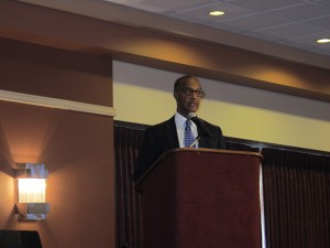 Frank Stewart, a former deputy assistant secretary at the Department of Energy, speaks at a conference in Philadelphia geared toward diversifying the oil and gas industry.