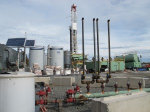 Drilling a well is a separate and distinct phase in the process of gas extraction that happens before fracking occurs.