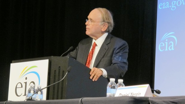 "Daniel Yergin speaking at the U.S. Energy Information Conference in Washington D.C. Monday. His book, ""The Prize: The Epic Quest for Oil, Money & Power"" won the Pulitzer Prize and is often cited as one of the definitive histories of the oil industry."