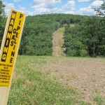 A natural gas pipeline in Lycoming County.