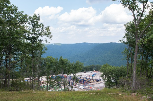 A wellpad in the Loyalsock State Forest. Gas drilling is already occurring there, but there are controversial plans to expand it in an ecologically sensitive area known as the Clarence Moore lands.