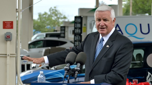 At a news conference in Philadelphia, Governor Corbett said he believes the public may be misinformed about how a severance tax on natural gas would affect the drilling industry in Pennsylvania.