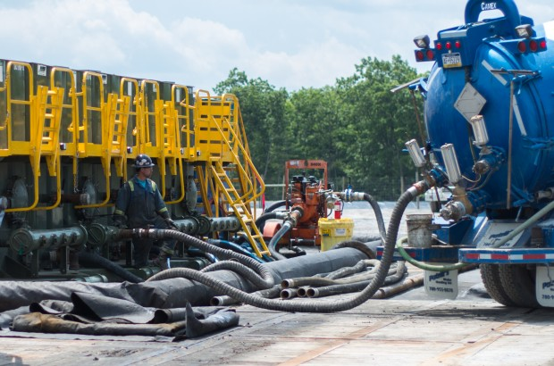According to a recent survey by the industry group, the Marcellus Shale Coalition, 84 percent of workers are white. Men outnumber women three to one.
