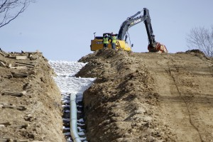 Pipeline construction in Butler County.
