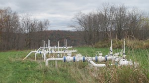 Natural gas gathering lines in Bradford County.