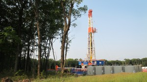 Marcellus producers are continuing to cut back on rigs like this one in Tioga County because of low market prices for gas, the DCNR says.