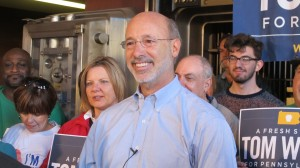 Governor-elect Tom Wolf on the campaign trail.