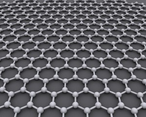 Model of graphene structure.