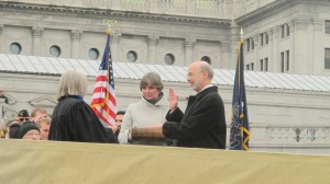 Tom Wolf was sworn in as the 47th governor of Pennsylvania Tuesday.