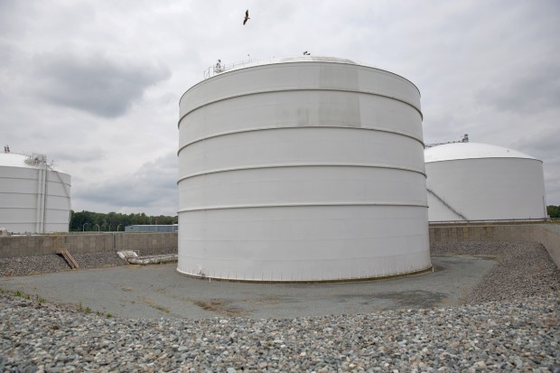 One of seven holding tanks at Dominion's Cove Point Liquefied Natural Gas Terminal.