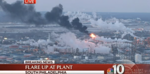 Flaring at the PES oil refinery in southwest Philadelphia Friday morning caused concerned residents to call 911.