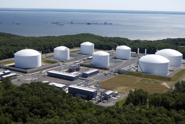 The U.S. is expected to become a net energy exporter over the next 15 years. This photo shows Dominion Resources Cove Point terminal in Maryland. It is currently being converted from a gas import facility to an export terminal to ship Marcellus Shale gas to Asia.