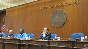 Harrisburg City Council listens to testimony on oil trains Thursday night.