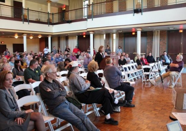 About 100 people attended a hearing over the state's newest proposed fracking regulations.