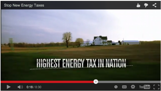 The Pennsylvania Chamber of Commerce and Industry began running TV spots opposing Wolf's shale gas tax.