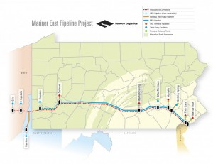Plaintiffs say Sunoco Logistics has no right to assert eminent domain to acquire land for its planned Mariner East 2 pipeline across Pennsylvania.