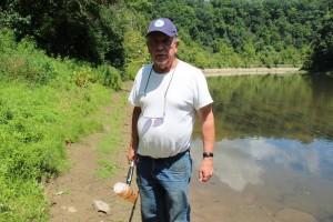 Ken Dufalla has been sampling Ten Mile Creek for four years.