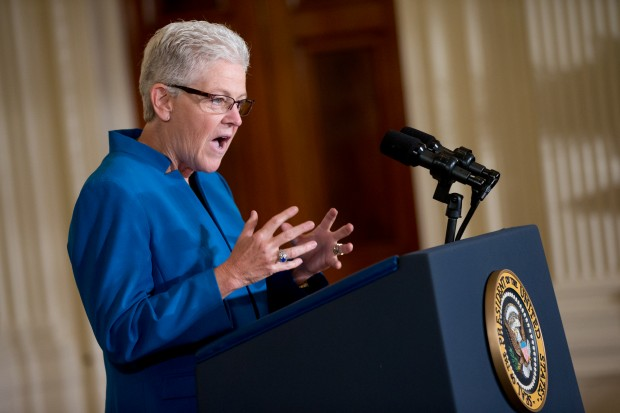 Environmental Protection Agency (EPA) Administrator Gina McCarthy speaks in the East Room at the White House in Washington, Monday, Aug. 3, 2015, before President Barack Obama spoke about his Clean Power Plan.