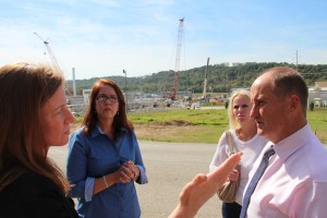 Kevin Hollinrake meets with members of the Mars Parent Group, which opposes fracking near schools.
