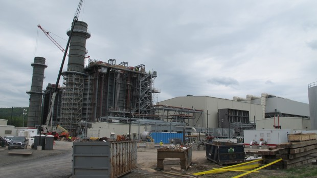 A natural gas power plant under construction in Bradford County.