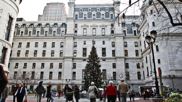Despite warm weather, some at City Hall say they are still looking forward to the holiday.
