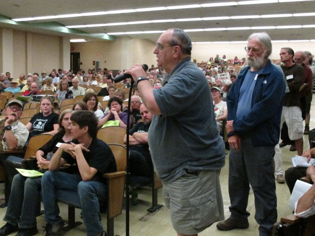After nearly 500 angry people packed a DCNR meeting about drilling in the Loyalsock State Forest in 2013, the department said it did not keep a record of their comments. Environmental groups are now asking the department to create a  formal public participation process for major land-use decisions.