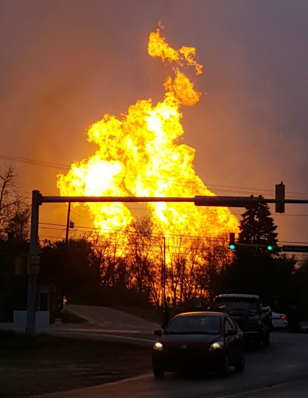 Man injured after pipeline explodes near his home in for Home builders western pa