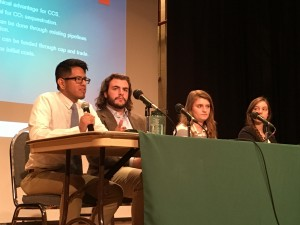 College students discuss solutions to climate change at a Harrisburg forum on the Clean Power Plan.