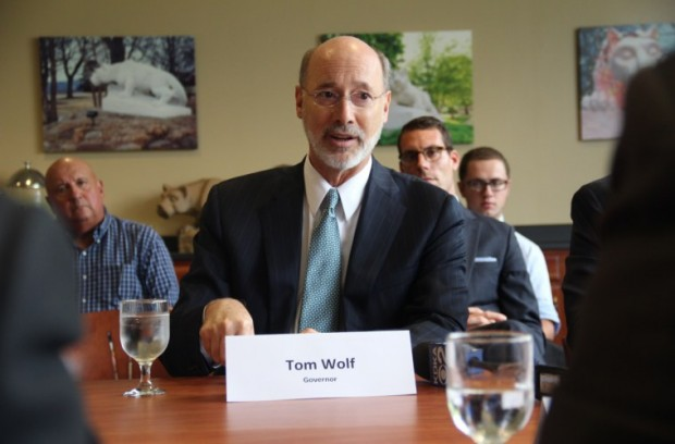 Gov. Tom Wolf hosted a roundtable discussion in Beaver County Thursday to tout the benefits of the ethane cracker plant Shell is planning to build.