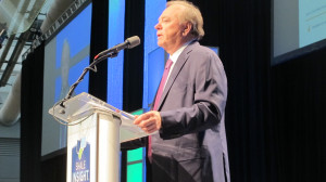 Self-made oil tycoon Harold Hamm is one of Donald Trump's key energy advisers. He does not believe climate change is a national security threat and warned a Clinton presidency would harm the oil and gas industry.