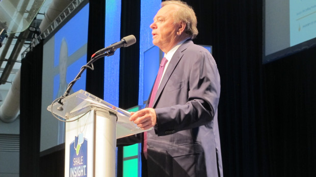 Self-made oil tycoon Harold Hamm is one of Donald Trump's key energy advisers. He spoke Wednesday at the Marcellus Shale Coalition's annual Shale Insight conference in Pittsburgh.