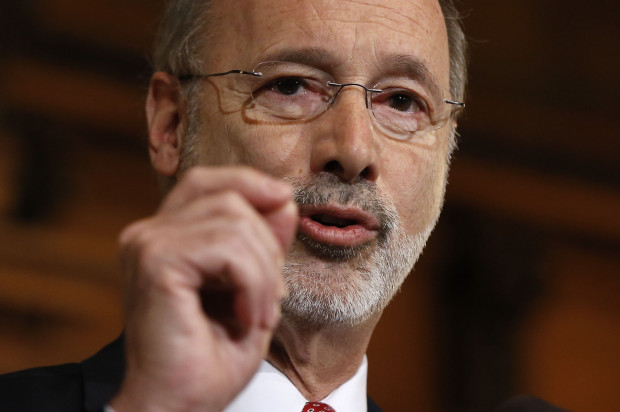 Gov. Tom Wolf, in this Dec., 2015 file photo, said a plastic bag bill would have violated the Environmental Rights Amendment to the Pennsylvania Constitution.