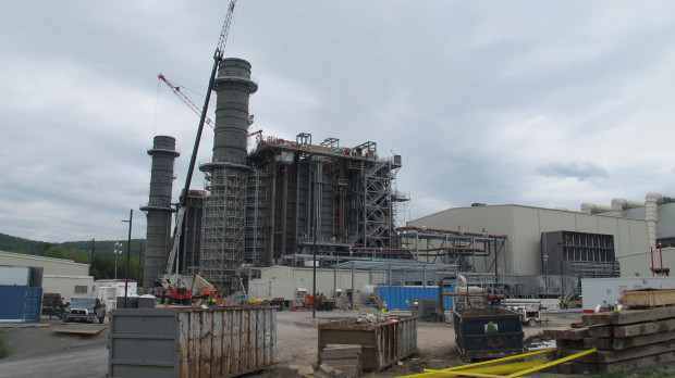 FILE PHOTO:  A natural gas power plant under construction in Bradford County, Pa.