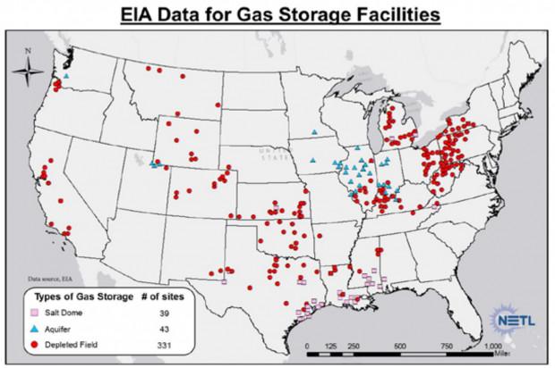 gas storage map