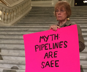 Pam Bishop opposes the Mariner East 2, a natural gas liquids pipeline planned to cross 17 counties in southern Pennsylvania.