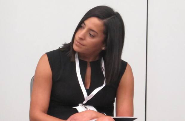 Gov. Wolf's special assistant, Yesenia Bane, speaking on a panel discussion in September at the Marcellus Shale Coalition's annual conference in Pittsburgh.