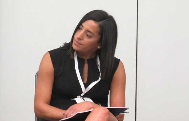 FILE: Governor Tom Wolf's deputy chief of staff Yesenia Bane, speaking at natural gas industry conference in 2016.