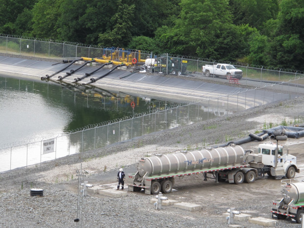 A frack water site in Bradford County