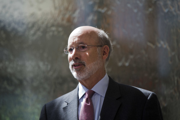 Pennsylvania Gov. Tom Wolf speaks during a news conference at the Temple University Lewis Katz School of Medicine in Philadelphia, Thursday, June 2, 2016.  Wolf recently told a group of Philadelphia area business people that DEP will approve permits for the controversial Mariner East 2 pipeline.