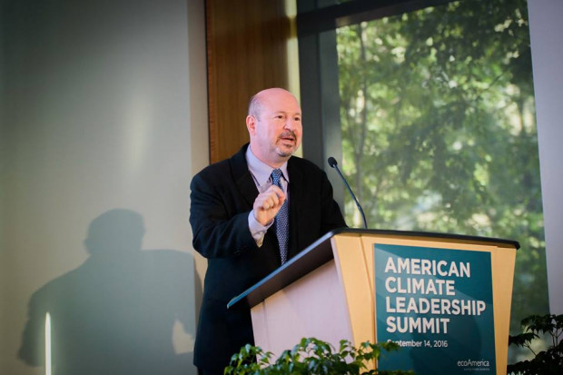 Dr. Mann speaking at the EcoAmerica Climate Leadership Conference in September 2016.