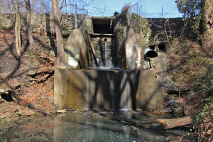 Broomall Lake Dam in Media, Delaware County.