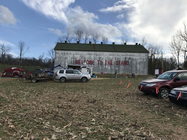 Pipeline protesters face stiff fines for camping in a Lancaster County cornfield and using a former tobacco barn for meetings.