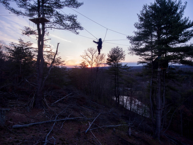 A tree sitter on the Gerhart's property in Huntingdon County. Sunoco has obtained a court order that allows the company to order an arrest of the Gerharts and charge them with trespass on their own property.